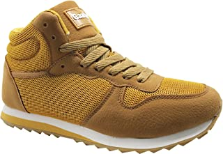 Gaatpot Unisex Adults' Sneakers Lace Up Leather & Mesh Casual Fashion Trainers Flat Walking Sport Shoes Size