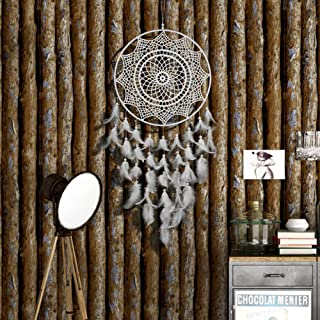 CHICIEVE White Large Dream Catchers for Bedroom Girls Room Feather Decor Brithday Party Gift Dia 11.8 inch