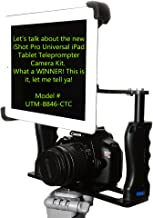 iShot G10 Pro Universal 360° Adjustable iPad Tablet Premium Teleprompter Camera Cage Kit + Free Smartphone Mount Clip - Works with All Camera Tripods - USA Company - Fits iPad and 7