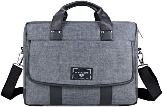 Vintage Laptop Messenger Bag 14 15.6 Inch Compatible with HP Pavilion x360, Spectre x360, Envy x360, Stream 14in, Pavilion 15, Elitebook 840 G1, for School Work Travel Business Use