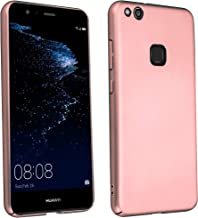 Cadorabo Case Works with Huawei P10 LITE in Metal ROSÉ Gold – Shockproof and Scratch Resistent Plastic Hard Cover – Ultra Slim Protective Shell Bumper Back Skin