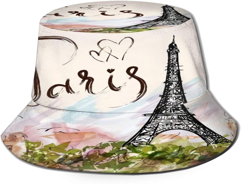 The Famous Memphis Mall Paris Eiffel Tower Bucket Hat Super intense SALE Summer P Sun Unisex