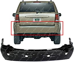 MBI AUTO - Primered, Rear Bumper Cover for 2005-2010 Jeep Grand Cherokee w/Out Tow 05-10, CH1100401