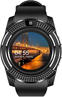 Faawn Smart Watch with Bluetooth SIM Card Slot Camera Pedometer Touch Screen Music Player Smart Watches for Mens Boys and Girls (smartwatch) : Black