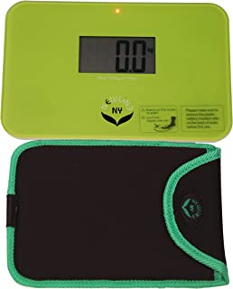 NewlineNY Step On Super Mini Smallest Travel Bathroom Scale with Trip Protection Sleeve: SBB0638SM-GN (Green) + NY-SMS-S00...