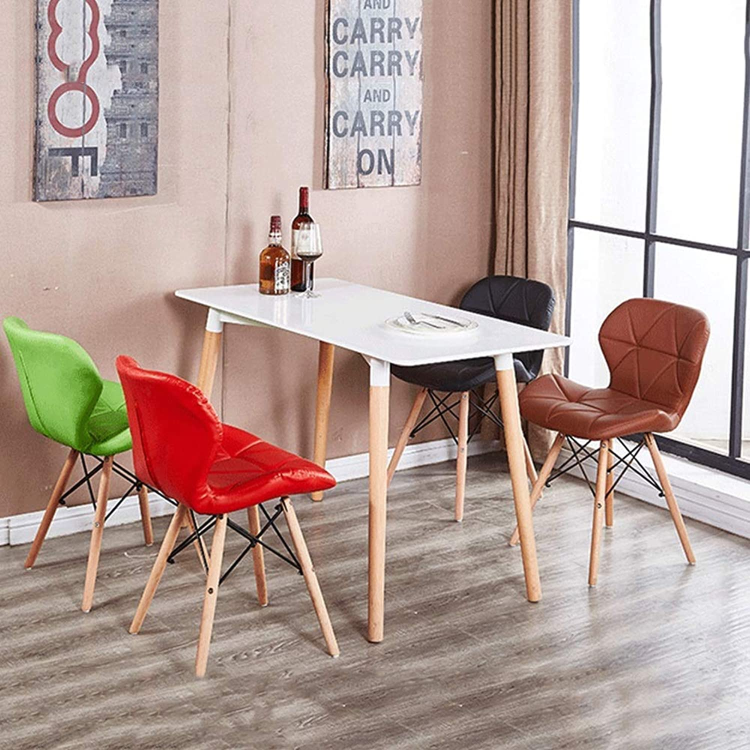 JZX Modern Minimalist Home Computer Chair, Wooden Makeup Chair, Fabric Multi-Function Footstool