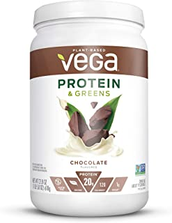 Vega Protein and Greens, Chocolate, Plant Based Protein Powder Plus Veggies - Vegan Protein Powder, Keto-Friendly, Vegetar...