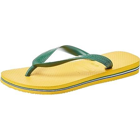 Havaianas Unisex Adults' Brasil Logo Flip Flops, Banana Yellow, 5 UK