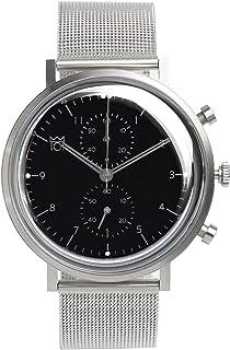 [HYAKUICHI 101] 日本製 腕時計 ウォッチ スモールセコンド クラシック シルバー×ブラック メンズ