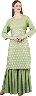 Jeivesh Women's Rayon Kurta with Palazzo Pant Set