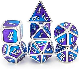 7 قطع متعددة الأبعاد من سبائك الزنك النرد الترفيه لعب النرد مجموعة اكسسوارات الألعاب Homgee
