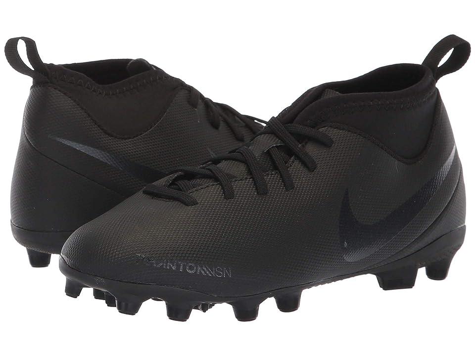 Nike Kids Jr. Phantom Vision Club DF MG Soccer (Toddler/Little Kid/Big Kid) (Black/Black/Light Crimson) Kids Shoes