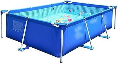 Piscina inflable, piscina con soporte grande Casa grande para adultos Piscina para niños Patio al aire libre Piscina infantil Parque acuático para el hogar (Color: Azul, Tamaño: 300 * 200 * 75 cm)