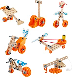 Hape Junior Inventor Deluxe Experiment Kit | 57 Piece Construction Building Toys, STEAM Science Kit For Kids 4 Years And U...