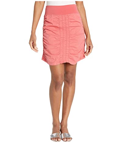XCVI Wearables Solid Trace Skirt (Cerasus Pigment) Women