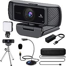 1080P Webcam Kits, NexiGo FHD Web Camera with Privacy Cover, Tripod Stand, Video Conference Lighting, USB Microphone & Spe...