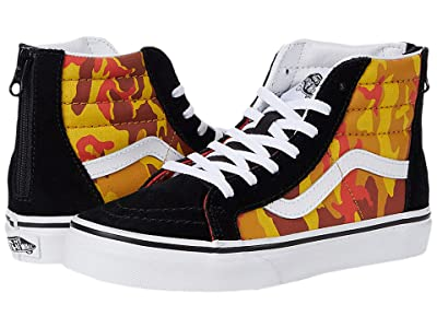Vans Kids Sk8-Hi Zip (Little Kid) ((Desert Camo) Multi/True White) Boys Shoes