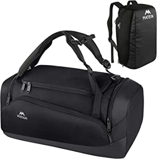 Gym Bag for Men, Large Gym Backpack Sports Bag with Shoes Compartment, 3 Way Waterproof Workout Duffel Travel Duffle Bag, 45L Travel Backpack Weekender Carry On Fits 15 inch Laptop, Black