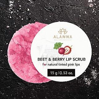 Beet & Berry Lip Scrub, 15G | Natural Pink Tint | Lip Hydration And Brightening I Pomegranate| Beetroot | Strawberry| Vega...