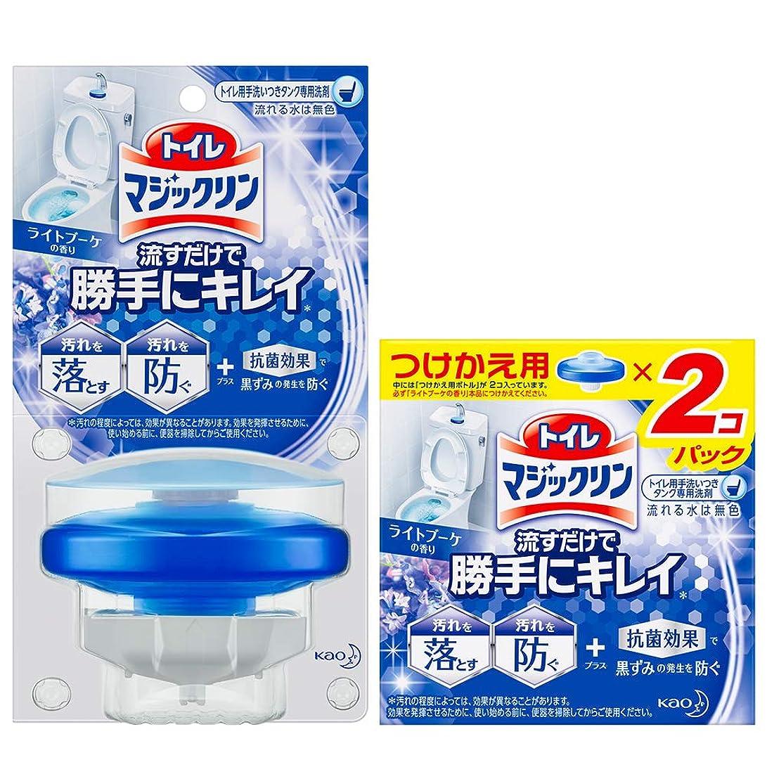 魅惑的な難破船荒らす【まとめ買い】トイレマジックリン トイレ用洗剤 流すだけで勝手にキレイ ブーケの香り 本体+付替用
