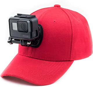 Digicharge Gorra de béisbol con Soporte de cámara de acción Compatible con GoPro Hero Akaso Crosstour Campark Fitfort Garmin VIRB Apeman Sony Camkong Motorola Victure Kitvision Nikon CAM