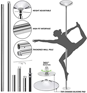 Saturnpower 45 mm Fitness Exercise Sport Strip Pole Professional Dance Tube Steelpipe Dance Rack Pole Spinning Static Dance Pipe Steel Tube Dance Equipment Tap Dancing Ballet Equipment