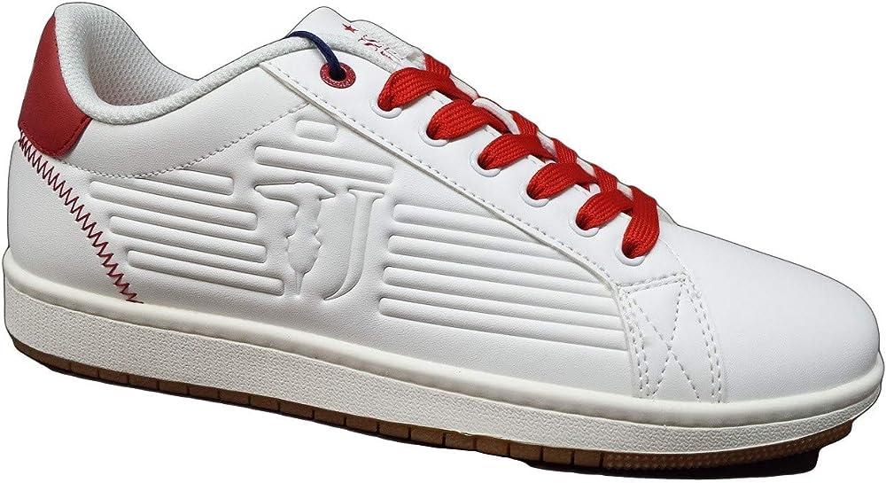 Trussardi jeans,scarpe sportive,sneakers per uomo,in pelle sintetica,numero 40 eu 77a00215