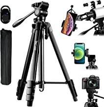 60-Inch Camera Tripod Stand for Telescope with Phone...