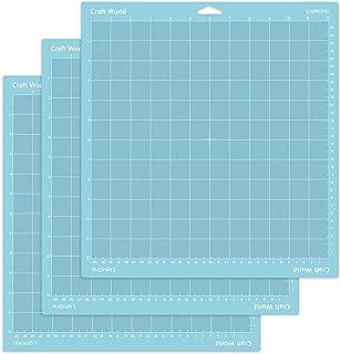 Craft World Lightgrip Cutting Mat for Cricut Maker/Explore Air 2/Air/One(12x12 Inch, 3 Pieces), Reuseable Cutting Mats for Crafts