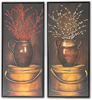 Sumeru Oil Paintings Bottle Wall Art Pictures Abstract People Artworks for Home Living Bedroom Office Decoration 2 Pieces 16