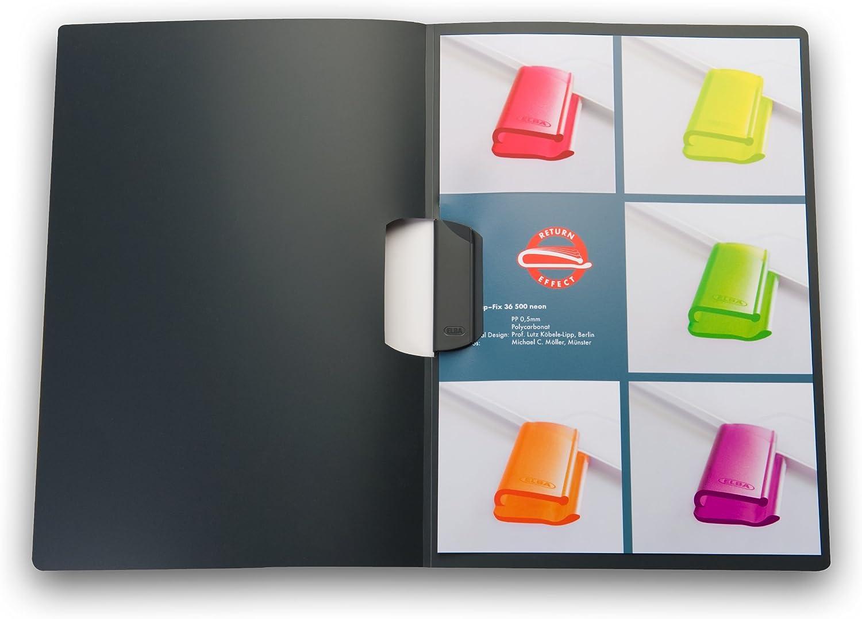 ELBA 100421012 Klemm-Mappe 10er Pack mit clip-fix-System dunkelblau