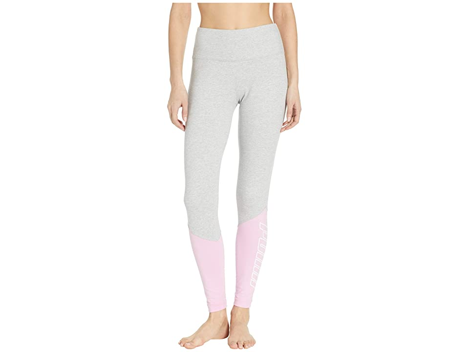 PUMA Out of This World Leggings (Light Grey Heather/Pale Pink) Women