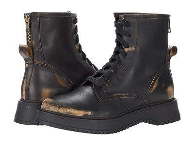 Steve Madden Farley Combat Boot (Black Distressed) Women