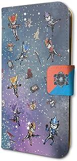 ウルトラマンR/B 01 ちりばめデザイン 宇宙背景(グラフアート) 手帳型スマホケース(iPhone6/6s/7/8兼用)