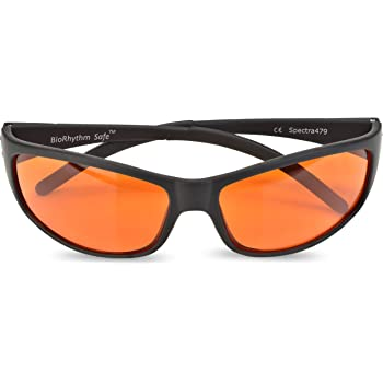 Blue Blocking Amber Glasses for Sleep - Nighttime Eye Wear - Special Orange Tinted Glasses Help You Sleep and Relax Your Eyes - by Spectra 479