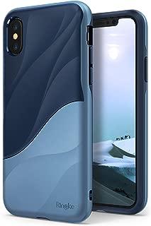 Ringke Wave Compatible con Funda iPhone X [Coastal Blue] Cubierta de Doble Capa de Absorción de Choque PC TPU de Cuerpo Completo Resistente a la Caída de Protección Diseño de Diseño Ergonómico