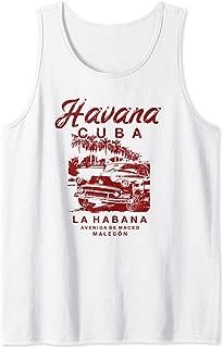CUBA Havana La Habana Cuban Malecon Vintage Tank Top