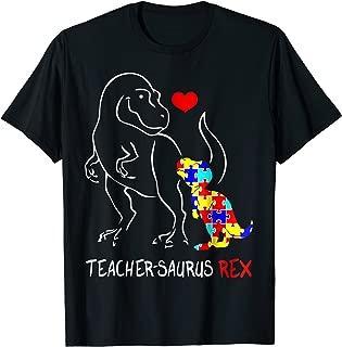 autism teacher dinosaur t shirt teachersaurus rex gift shirt