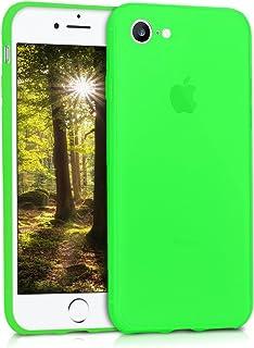 kwmobile Funda para Apple iPhone 7 / 8 - Carcasa para móvil en TPU silicona - Protector trasero en verde neón