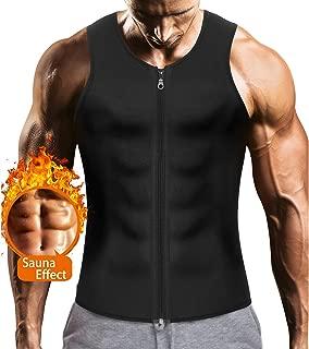 Mens Sauna Waist Trainer Corset Vest with Zipper for...