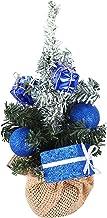 KESYOO Tabletop Christmas Tree 20cm Mini Xmas Tree with Linen Base Christmas Desktop Ornament for Holiday Seasonal Party H...