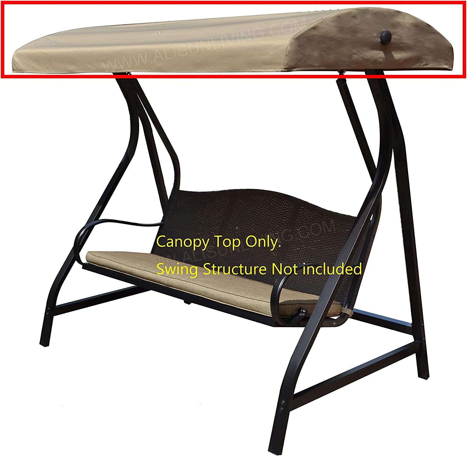 ALISUN Replacement Canopy Top for GT Porch Swing Model #GCS00229C (Will Not Fit Any Other Swing)