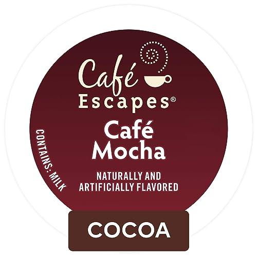 Café Escapes Café Mocha, Single Serve Coffee K-Cup Pod, Flavored Coffee,