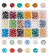10 mm Perline rotonde in vetro smerigliato trasparente da 15 colori per creazione di gioielli fai da te e creazione di collane artigianali con contenitore