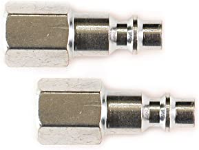 Primefit IP1414FS-2 1/4-Inch Industrial Steel Plug Set with 1/4-Inch Female NPT, 2-Piece