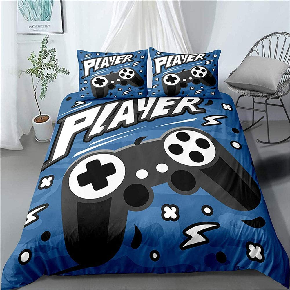 Yarug Gamepad Comforter Cover for Teen Boys Kids Twin Game Decor Duvet Cover Kids Bedding Sets /& Collections Soft Microfiber Quilt Cover