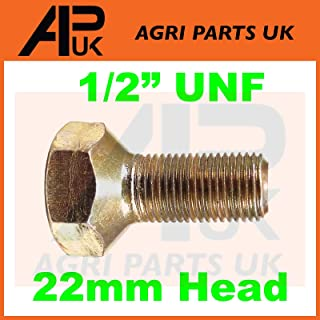 APUK 6 x Front Wheel Bolts 1//2 UNF Compatible with Massey Ferguson 35 65 135 148 165 240 290 Tractor