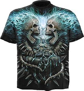 Spiral - Mens - Flaming Spine - Allover T-Shirt Black