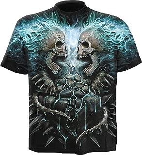Mens - Flaming Spine - Allover T-Shirt Black
