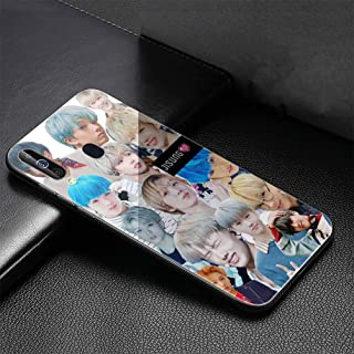 Luxury Phone Case for Samsung Galaxy S10 Plus Cover,9H Tempered Glass Back Cover Soft Silicone Anti Scratch Bumper Design LB-111 NCT 127 U Dream Kpop Protective Case